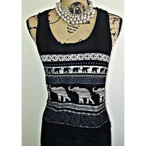 Tops - Elephant cropped top tank